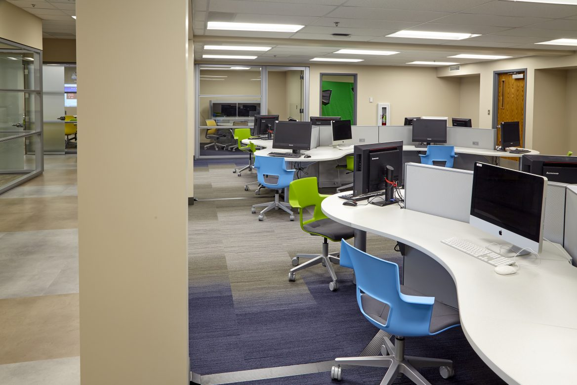 Tri-County Tech Student work spaces