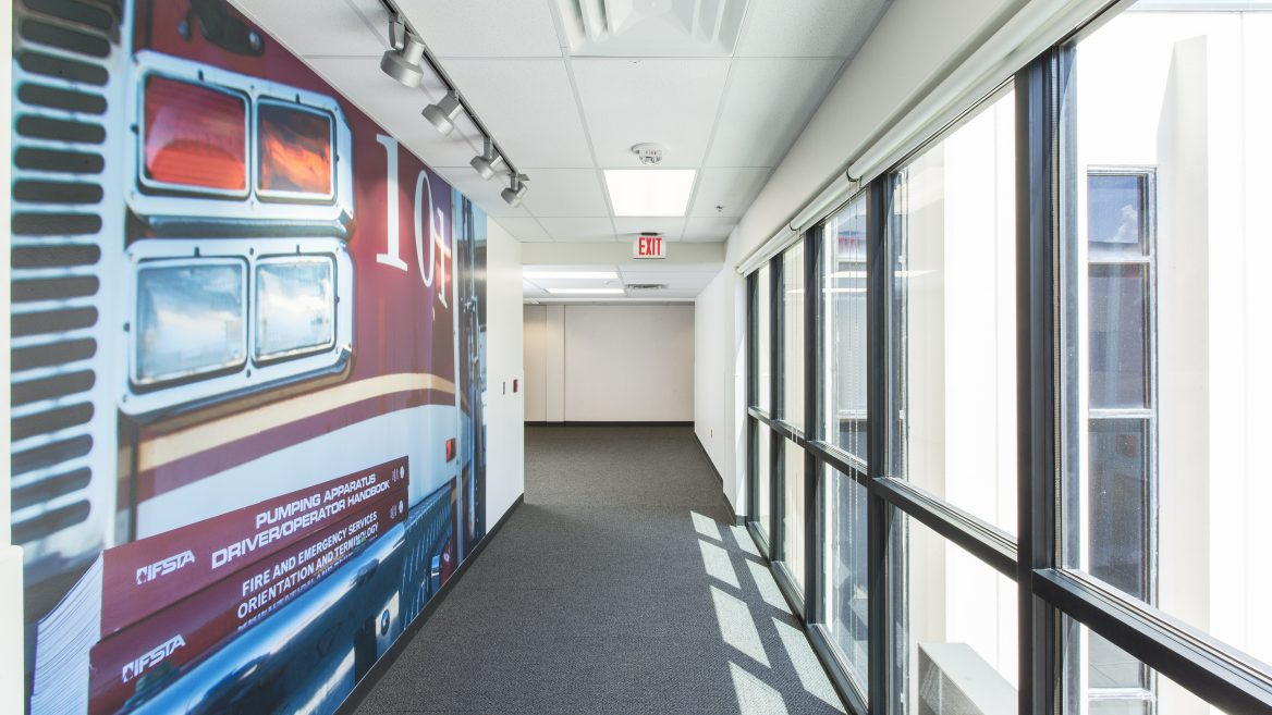 OSU Fire Protection Building, Graphic Hallway